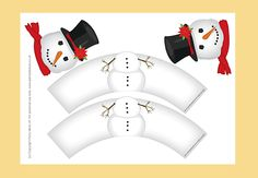 Seasonal Snowman Cupcake Wrappers