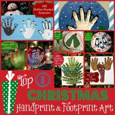 Top 8 Holiday Handprint and Footprint Art by MommaliciousMommy.com Pin it to Remember it!