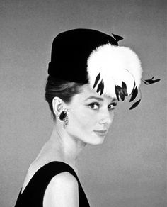 """Audrey Hepburn in a promotional shot for """"Breakfast at Tiffany's"""" in 1960 by Howell Conant."""