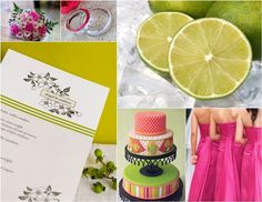 @Doanne Quintos ~ Hot pink and lime green wedding