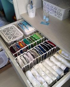 Closet Organization Kitchen Organization Clothing Organization Home Organization Hacks Konmari Closet Designs Closet Storage Walk In Closet Closet Bedroom Perfect for utilizing the KonMari method. No photo description available. Organisation Hacks, Wardrobe Organisation, Back To School Organization, Closet Organization, Craft Organization, Dresser Drawer Organization, Underwear Organization, Organizing Ideas, Organizar Closet