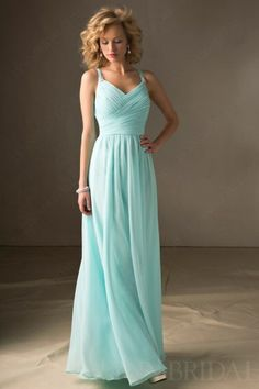 Crisscross Column Sweetheart Floor Length Chiffon Long Bridesmaid Dress | LynnBridal.com
