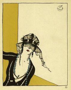 Bonjour (Chapeau de Camille Roger )  From Gazette du bon genre, Paris, 1921
