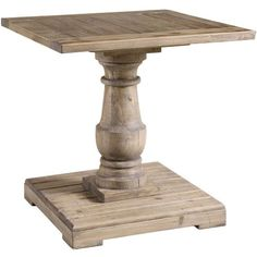 Uttermost Stratford End Table - End Tables at Hayneedle Traditional styled end table with hand turned baluster Crafted from solid salvaged fir lumber Stony gray finish Dimensions: 26W x 26D x 27H in.