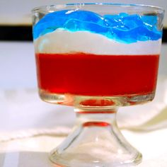 4th of July Jello Parfait   Recipe - Image Collection