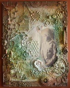 """Mixed media 18"""" x 24"""" canvas  By: Dianebscrp"""