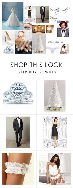 """wedding with mr.styles"" by jademaitland ❤ liked on Polyvore featuring Angelo, Tiffany & Co., TESSA, Yves Saint Laurent, Reger by Janet Reger, Ultimo and Hanky Panky"