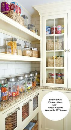 Sweet Small Kitchen Ideas And Great Kitchen Hacks for DIY Lovers 6