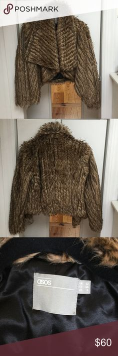 ASOS Faux Fur Coat Really cute faux fur coat by ASOS, in great condition. Only worn a handful of times, size 6 fits a S/M. Offers Accepted 🤗☀️ ASOS Jackets & Coats