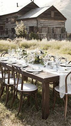 dining al fresco - rustic