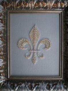Beaded Fleur De Lis Art. $100.00, via Etsy.