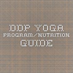 ddp yoga program/nutrition guide