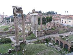 Vanuit het Capitolijns Museum had je een mooi uitzicht op het Forum Romanum.
