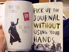 wtj pick up the journal without using your hands - Google Search