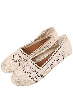 fedbc3bf3a8b09 MatchLife Women Hollow Out Soft Shoes Beige 5 UK