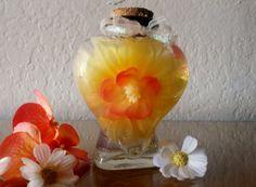 Heart-Shaped Bottled Bouquet silk flowers by BottledBouquet