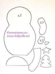 Haz bonitos porta cubiertos navideños en fieltro paso a paso ~ lodijoella Felt Christmas Decorations, Christmas Crafts, Xmas, Holiday Decor, Diy Home Crafts, Mug Rugs, Mittens, Snowman, Disney Princess