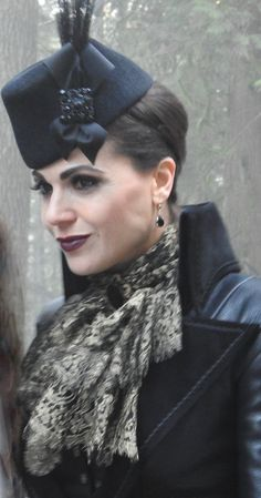 Regina Mills Evil Queen outfit for 6.14.  New coat, hat and accessories