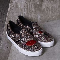 We're obsessed wtih @chiaraferragni 's shoe collection || Chiara Ferragni Glitter Lips Slip-On Sneaker: http://www.nastygal.com/product/chiara-ferragni-glitter-lips-slipon-sneaker?utm_source=pinterest&utm_medium=smm&utm_term=instagram&utm_content=omg_shoes&utm_campaign=pinterest_nastygal