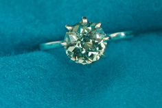 Green Amethyst Alternative Color Engagement Ring by janeysjewels, $250.00