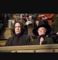 Snape and Mcgonagall moments Professor Severus Snape, Harry Potter Severus Snape, Severus Rogue, Harry Potter Hermione, Harry Potter Facts, Harry Potter Love, Harry Potter Fandom, Harry Potter World, Albus Dumbledore