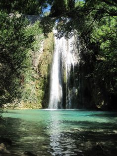 """The """"lagoon"""" waterfall in Cotignac (you can even swim in it - and I have!)"""