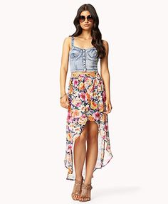 Floral print high low. this is definitely different from my typical style, but it's a super cute summer look!