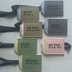 Quick ship Mr. And Mrs. Tags are here!