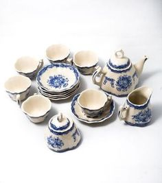 CHILDS PLAY TEA SET PORCELAIN SHABBY CHIC CHRISTMAS STOCKING FILLER now reduced