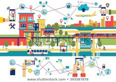Find Smart City Flat Vector Illustration Cityscape stock images in HD and millions of other royalty-free stock photos, illustrations and vectors in the Shutterstock collection. Thousands of new, high-quality pictures added every day. Smart City, Royalty Free Stock Photos, Illustration, Artist, Pictures, Image, Photos, Illustrations, Artists
