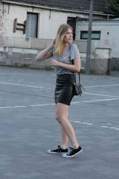 MRS. GREY Leather Skirt, Personal Style, Sporty, Grey, Fashion, Moda, Gray, Leather Skirts, Fasion