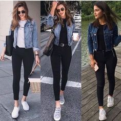 """Moda y Estilo en Instagram: """"👉🏼👉🏼 1 💚 2 💛 3 ❤ 👈🏻👈🏻 . .⠀ ⭐¿Cuál es tu modelo favorito? 🔥⠀ 🔊 Escribe un comentario 📱⠀ .⠀ ⭐ What is your favorite model? 🔥⠀ 🔊 Write a comment…"""" Casual Work Outfits, Mode Outfits, Simple Outfits, Stylish Outfits, Casual Ootd, Casual Chic, Smart Casual Outfit, Teenage Outfits, College Outfits"""