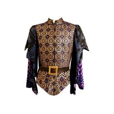 Mens Medieval Festive Outfit ❤ liked on Polyvore featuring men's fashion, medieval, dinadan, fantasy clothes and men