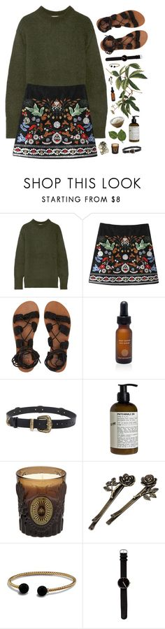 """""""Sitting in an English garden"""" by nandim ❤ liked on Polyvore featuring TIBI, Billabong, True Botanicals, Magda Butrym, Le Labo, D.L. & Co. and David Yurman"""