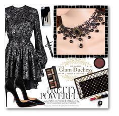 """""""Glam Duchess"""" by glamduchess ❤ liked on Polyvore featuring Just Cavalli, Charlotte Olympia, Christian Louboutin, Chanel, Kat Von D and vintage"""