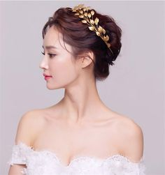 Gold Leaf Baroque Crown Tiara Head Jewelry Hair Accessories Diadem Mariage Bijoux De Tete Cheveux Corona Casamento WIGO0724-in Hair Jewelry from Jewelry on Aliexpress.com | Alibaba Group