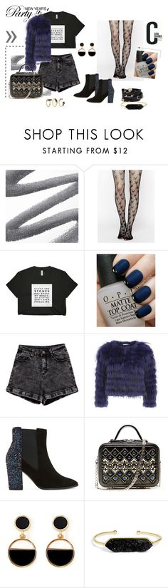 """Party Style"" by truongkimanh8888 on Polyvore featuring mode, Leg Avenue, OPI, Alice + Olivia, Dune, Versace, Warehouse, Cool Change, BaubleBar et Noir Jewelry"
