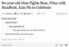 Dean Winchester is legendary