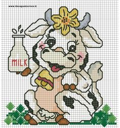 Thrilling Designing Your Own Cross Stitch Embroidery Patterns Ideas. Exhilarating Designing Your Own Cross Stitch Embroidery Patterns Ideas. Cross Stitch Cow, Cross Stitch Animals, Cross Stitch Charts, Cross Stitch Designs, Cross Stitch Patterns, Cross Stitching, Cross Stitch Embroidery, Embroidery Patterns, Perler Patterns