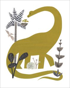 Golden Dinosaur, Christian Robinson - print, $30