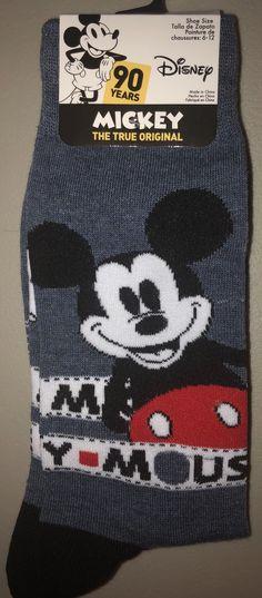 462d6047da Disney Men s MICKEY MOUSE Novelty Crew Socks Size 6-12