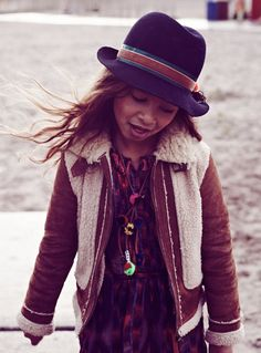 shearling jacket and fly hat. Scotch R'Belle Collection   Scotch & Soda
