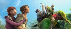 """In the Blue Sky Studios animated film """"Epic"""", human teenager Mary Katherine (M.) is shrunk down to a world where Leafmen ride hummingbirds. Epic Film, Epic Movie, Epic Animated Movie, Blue Sky Studios, Superhero Poster, Movie Party, Hollywood Actor, Animation Film, Disney Movies"""