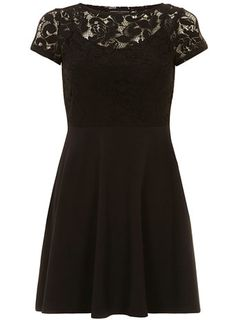 Black lace top 2in1 dress - View All  - Dresses