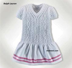 Белое платье для девочки от Ralph Lauren - СХЕМЫ ПО ССЫЛКЕ НА БЛОГЕ http://mslanavi.com/2018/07/beloe-plate-dlya-devochki-ot-ralph-lauren/