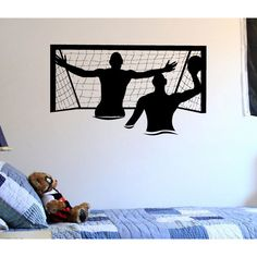 Sports Water Polo ball gate Wall Art Sticker Decal