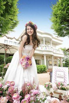 画像 : 【人気№1】花冠の花嫁画像まとめ1000枚以上【新婦の髪型(ヘアスタイル)】 - NAVER まとめ