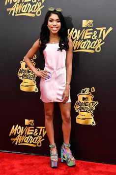 Actress Teala Dunn attends the 2017 MTV Movie And TV Awards at The Shrine Auditorium on May 7, 2017 in Los Angeles, California.