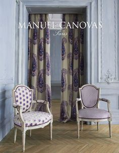 Upholstery and drapery fabric from Manuel Canovas available through www.janehalldesign.com