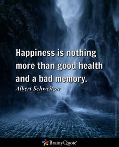 happiness is good health and a bad memory essay examples